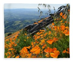 Poppy Mountain  Fleece Blanket