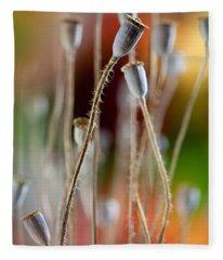 Poppy Pods Fleece Blanket