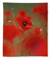 Poppy Power Fleece Blanket