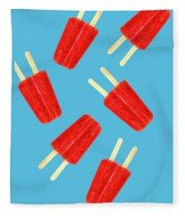 Popsicle T-shirt Fleece Blanket