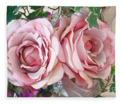 Porch Roses Fleece Blanket
