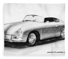 Porsche 356 Fleece Blanket