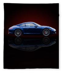 Porsche 911 Carrera - Blue Fleece Blanket