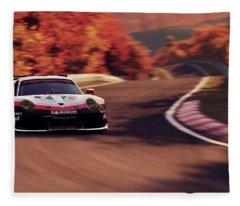 Porsche 911 Rsr, Nordschleife - 41 Fleece Blanket