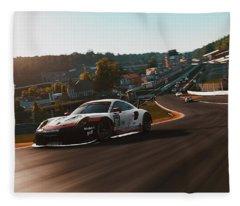 Porsche 911 Rsr, Spa-francorchamps - 33 Fleece Blanket