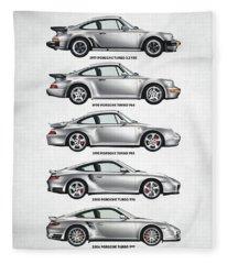 Porsche 911 Turbo Evolution Fleece Blanket