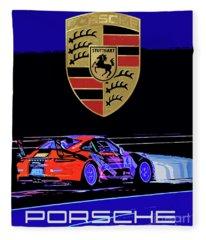 Porsche Gt Poster Fleece Blanket
