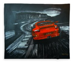 Porsche Gt3 Le Mans Fleece Blanket