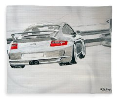 Porsche Gt3 Fleece Blanket
