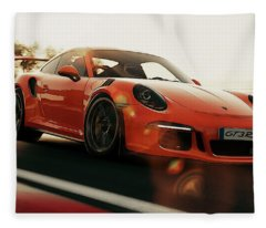 Porsche Gt3 Rs - 4 Fleece Blanket