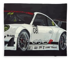 Porsche Gt3 Rsr Fleece Blanket