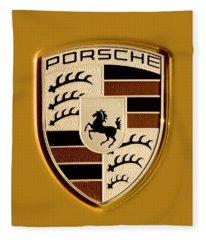 Porsche Oil Paint Filter 121615 Fleece Blanket
