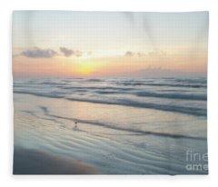 Port Aransas Texas Sunrise Fleece Blanket