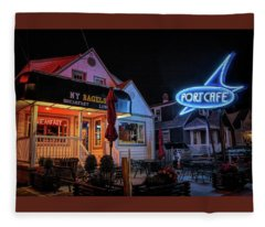 Port Cafe Wildwood Fleece Blanket