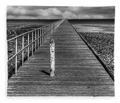 Port Germein Long Jetty Fleece Blanket