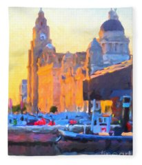 Port Of Liverpool, England Fleece Blanket