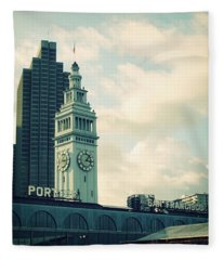 Port Of San Francisco Fleece Blanket