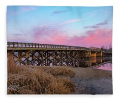 Port Republic Nacote Creek Bridge Fleece Blanket