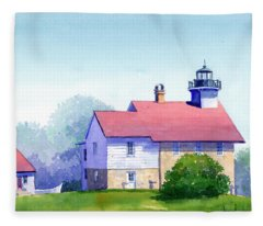 Port Washington Lighthouse Fleece Blanket
