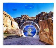 Coyote Canyon Portal Fleece Blanket