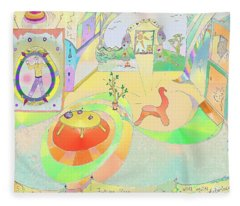 Portals And Perspectives Fleece Blanket
