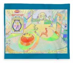Portals And Perspectives Fleece Blanket