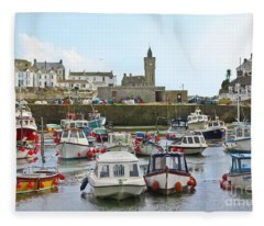 Porthleven Inner Harbour Fleece Blanket