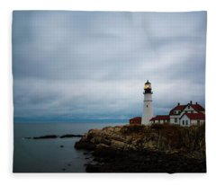Portland Head Light 2 Fleece Blanket