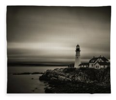 Portland Head Light 3 Fleece Blanket