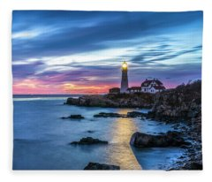 Portland Head Light Fleece Blanket