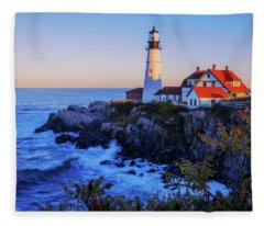 Portland Head Light II Fleece Blanket