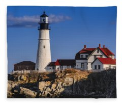 Portland Head Light No. 43 Fleece Blanket