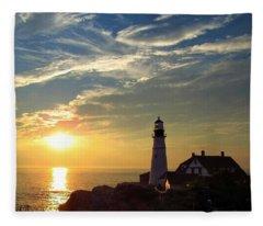 Portland Headlight Sunbeam Fleece Blanket