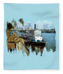 Portland Sunday Walk Fleece Blanket