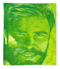 Portrait In Green Fleece Blanket