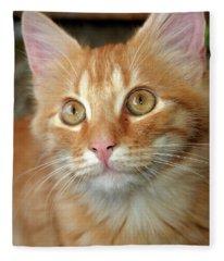 Portrait Of A Cat Fleece Blanket