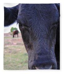 Portrait Of A Cow Fleece Blanket