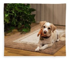 Portrait Of A Dog Fleece Blanket
