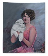 Maggie And Caruso -portrait Of A Flapper Girl Fleece Blanket