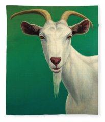 Portrait Of A Goat Fleece Blanket