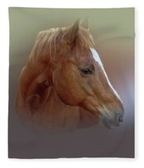 Portrait Of A Horse Fleece Blanket