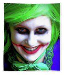 Portrait Of A Joker Fleece Blanket