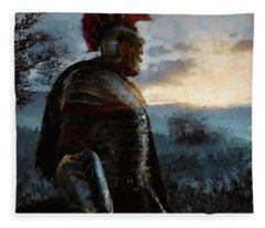 Portrait Of A Roman Legionary - 34 Fleece Blanket