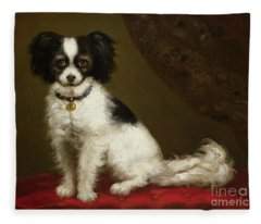 Portrait Of A Spaniel Fleece Blanket