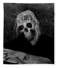 Portrait Of A Zombie Fleece Blanket