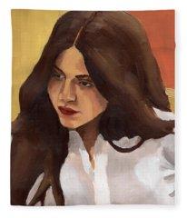 Portrait Of Amelia Fleece Blanket