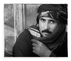 Portrait Of An Arab Man Fleece Blanket