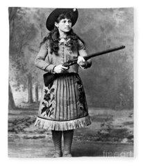 Portrait Of Annie Oakley Fleece Blanket