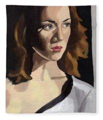 Portrait Of Becca Fleece Blanket