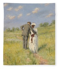 Portrait Of Captain William Holmes And Mary Shafter Mckitterick Fleece Blanket